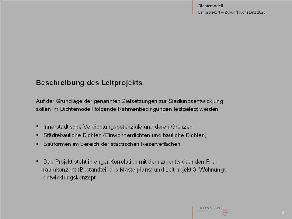 2 Dichtemodell Leitprojekt 1 – Zukunft Konstanz 2020