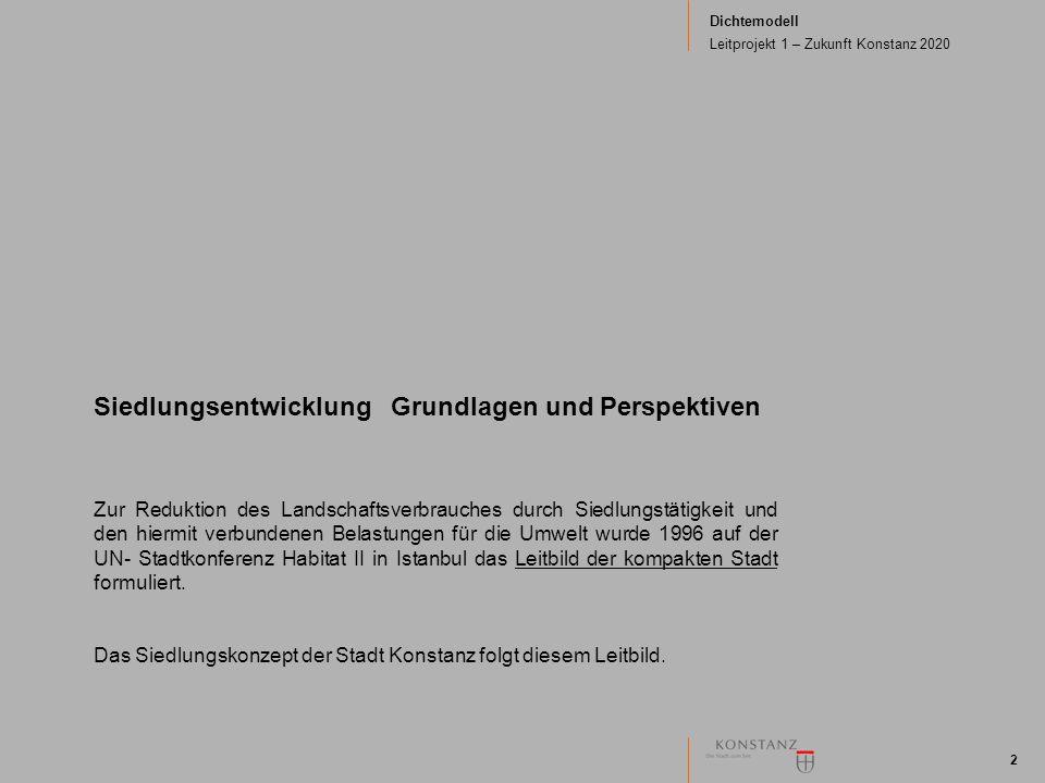 Dichtemodell Leitprojekt 1 – Zukunft Konstanz 2020 2