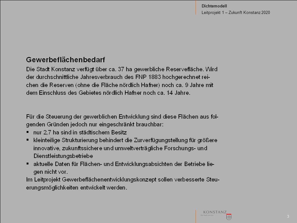 3 Dichtemodell Leitprojekt 1 – Zukunft Konstanz 2020