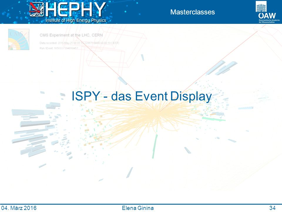 3434 Masterclasses ISPY - das Event Display Elena Ginina 04. März 2016