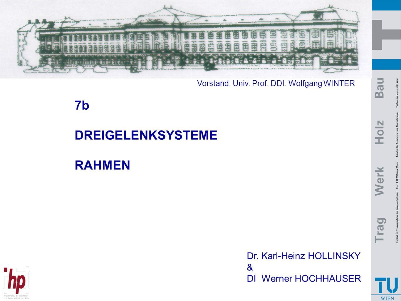 7b DREIGELENKSYSTEME RAHMEN Dr. Karl-Heinz HOLLINSKY & DI Werner HOCHHAUSER Vorstand. Univ. Prof. DDI. Wolfgang WINTER