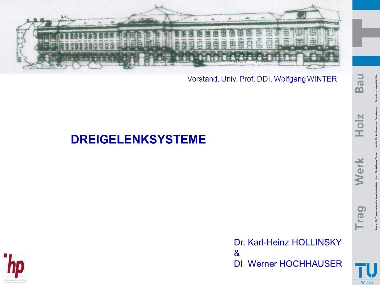 DREIGELENKSYSTEME Dr. Karl-Heinz HOLLINSKY & DI Werner HOCHHAUSER Vorstand. Univ. Prof. DDI. Wolfgang WINTER