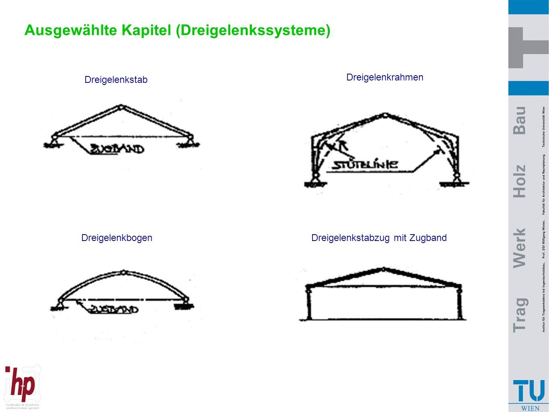 """Ausgewählte Kapitel (Dreigelenkssysteme - Gegenüberstellung) Trägerhöhe: h ~ 0,06 x L h ~ 0,03 x L h ~ 0,02 x L  L M  M = -H * y c Die Annäherung der Bogenform an die """"Stützlinie bedeutet nahezu keine Biege - momente M ~ 0 ab M N b M max = q * l² / 8 L M a q N = 0 x f Grundsystem: y ba c q L M GS MM H = M c / f M max = q * l² / 8 H = M c / f H N BVBV AVAV M = M GS -  M"""