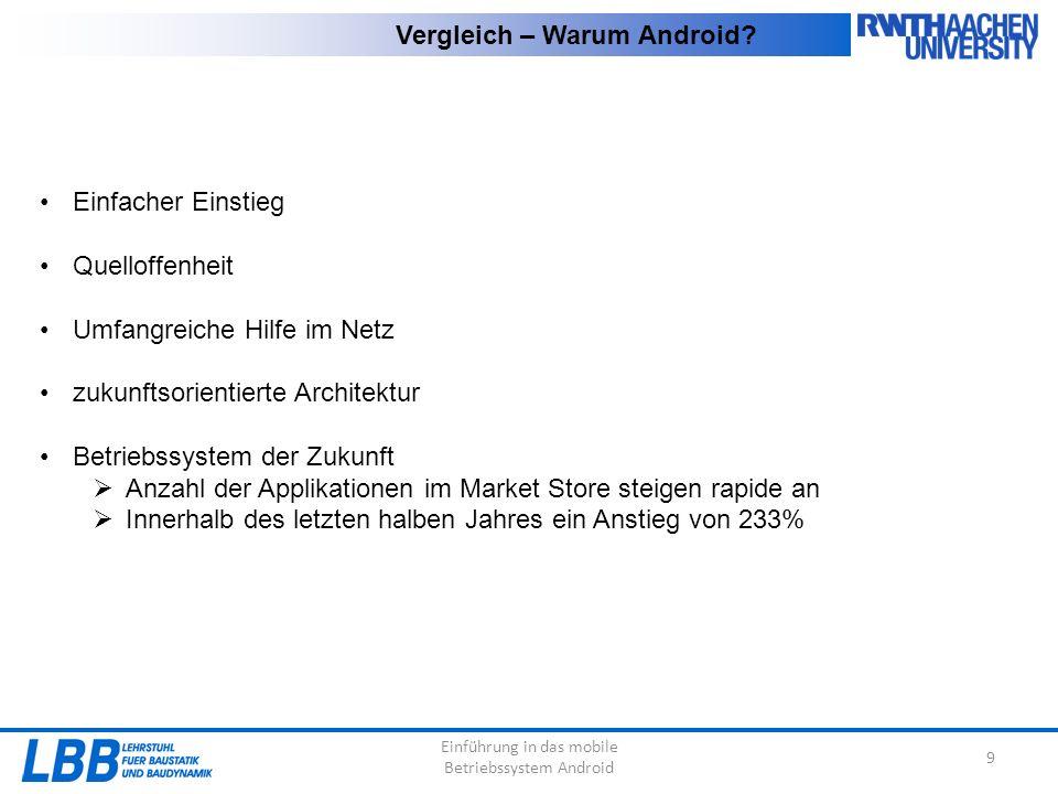 Einführung in das mobile Betriebssystem Android 9 Vergleich – Warum Android.