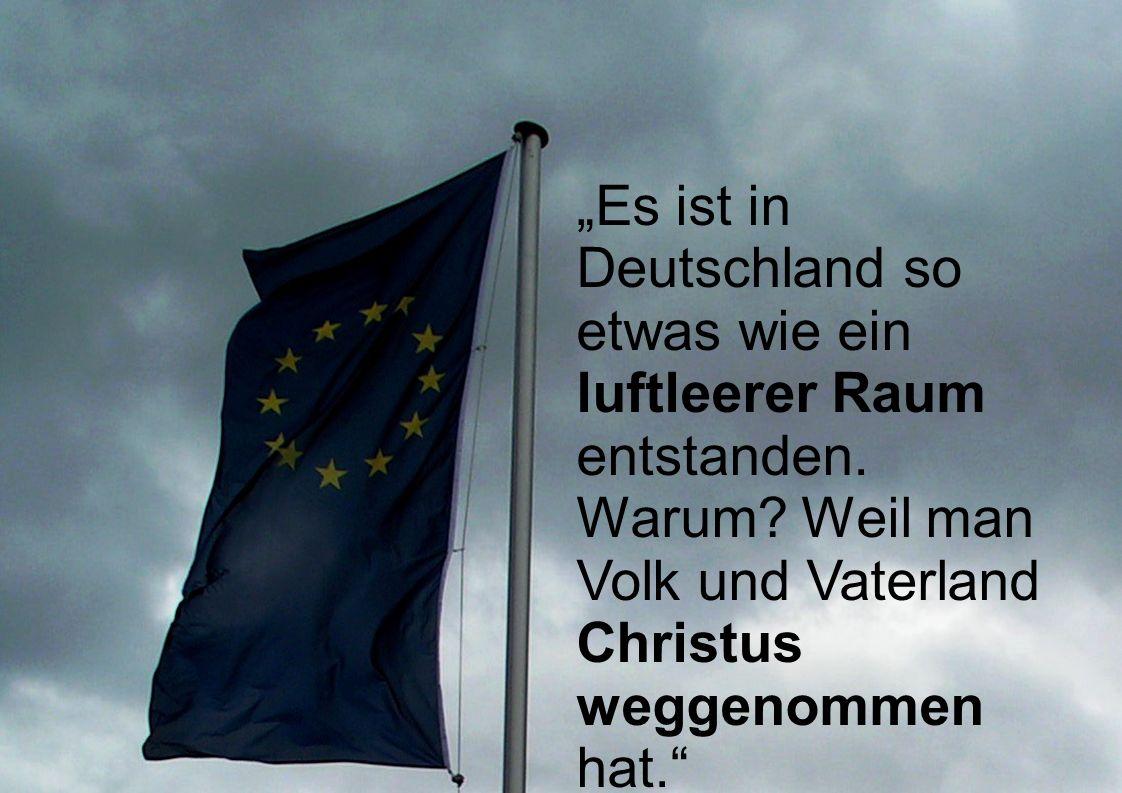 """""""Es ist in Deutschland so etwas wie ein luftleerer Raum entstanden."""