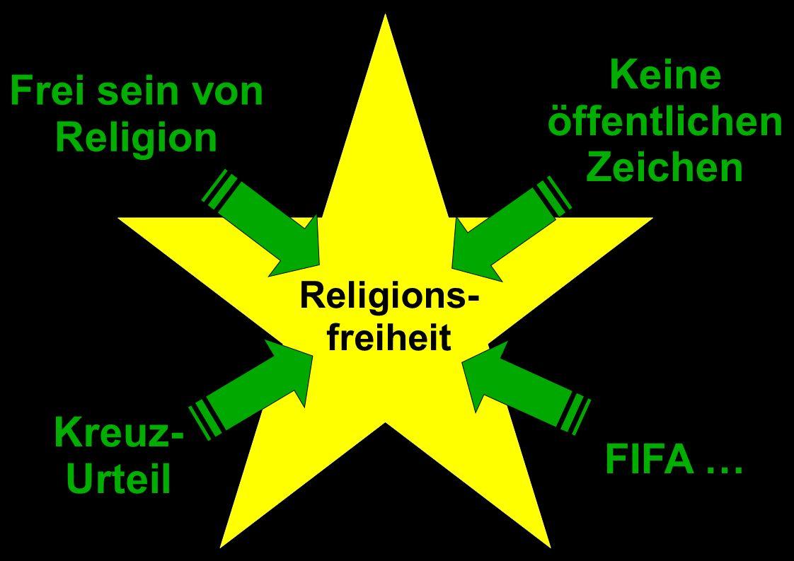Religions- freiheit Frei sein von Religion Keine öffentlichen Zeichen Kreuz- Urteil FIFA …