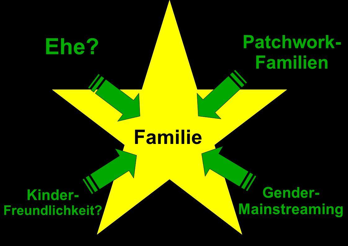 Familie Ehe? Patchwork- Familien Kinder- Freundlichkeit? Gender- Mainstreaming