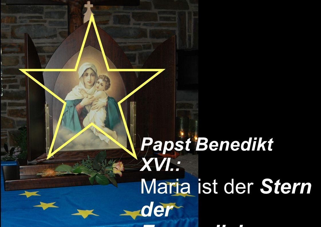 Papst Benedikt XVI.: Maria ist der Stern der Evangelisierung