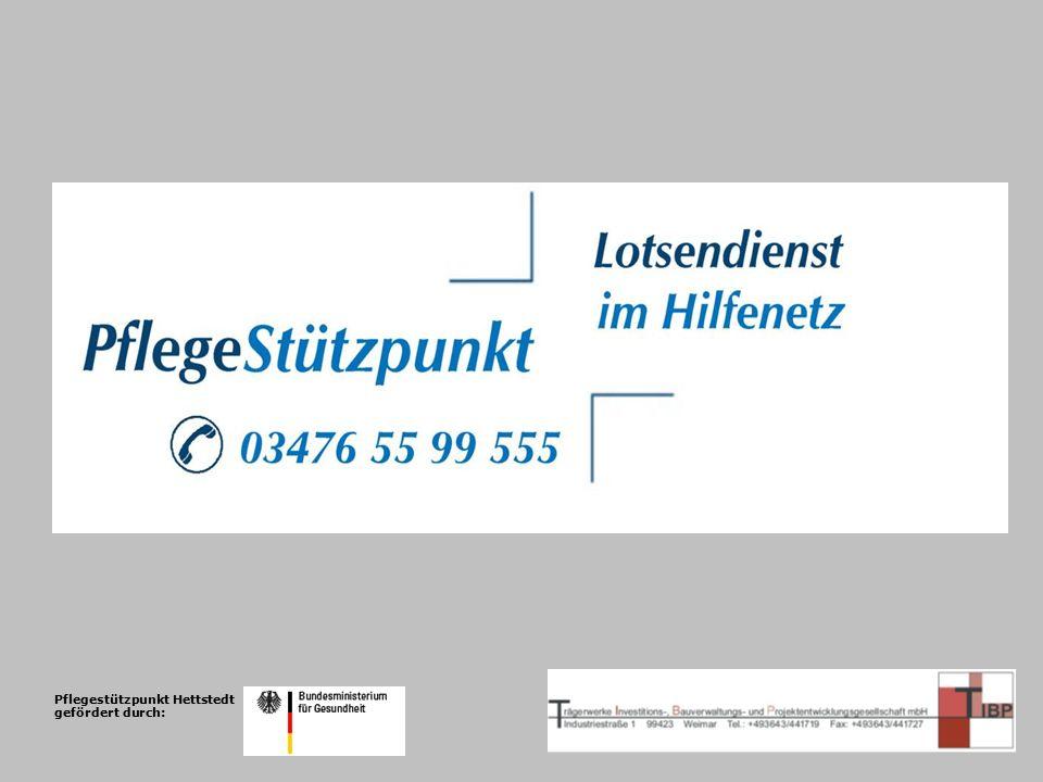 Pflegestützpunkt Hettstedt gefördert durch: