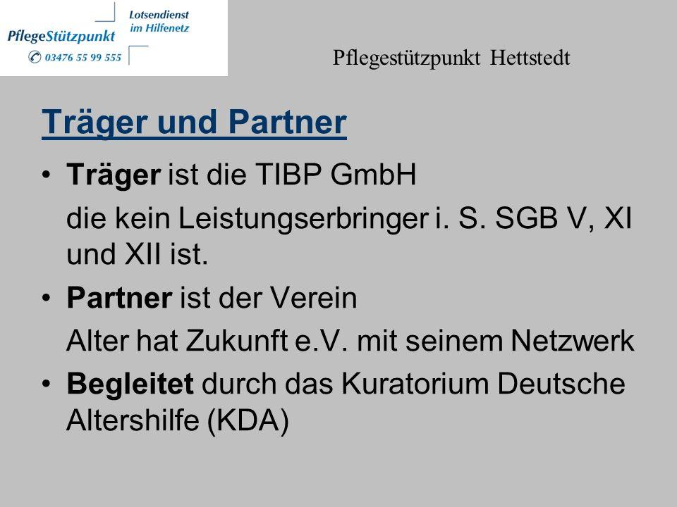 Träger und Partner Träger ist die TIBP GmbH die kein Leistungserbringer i.