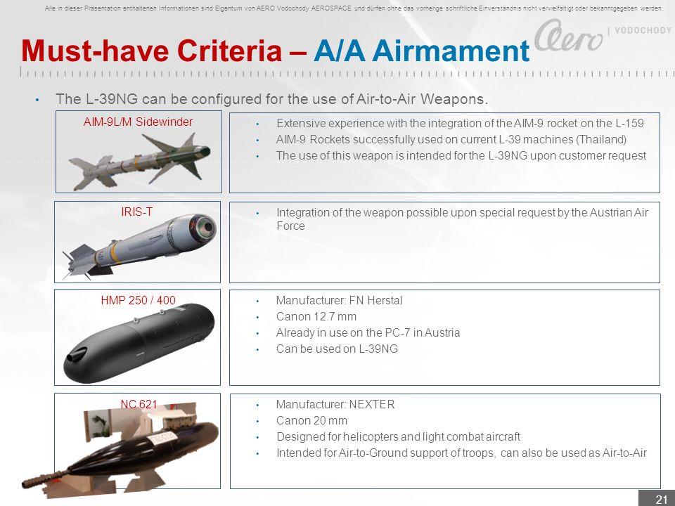 Alle in dieser Präsentation enthaltenen Informationen sind Eigentum von AERO Vodochody AEROSPACE und dürfen ohne das vorherige schriftliche Einverstän