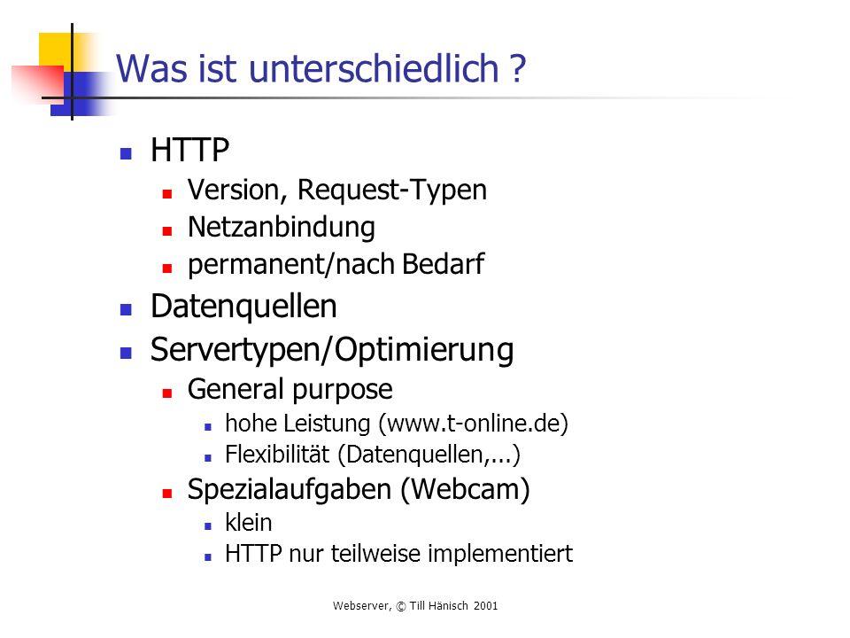 Webserver, © Till Hänisch 2001 Resource holen .Wie findet der Webserver eine Resource .