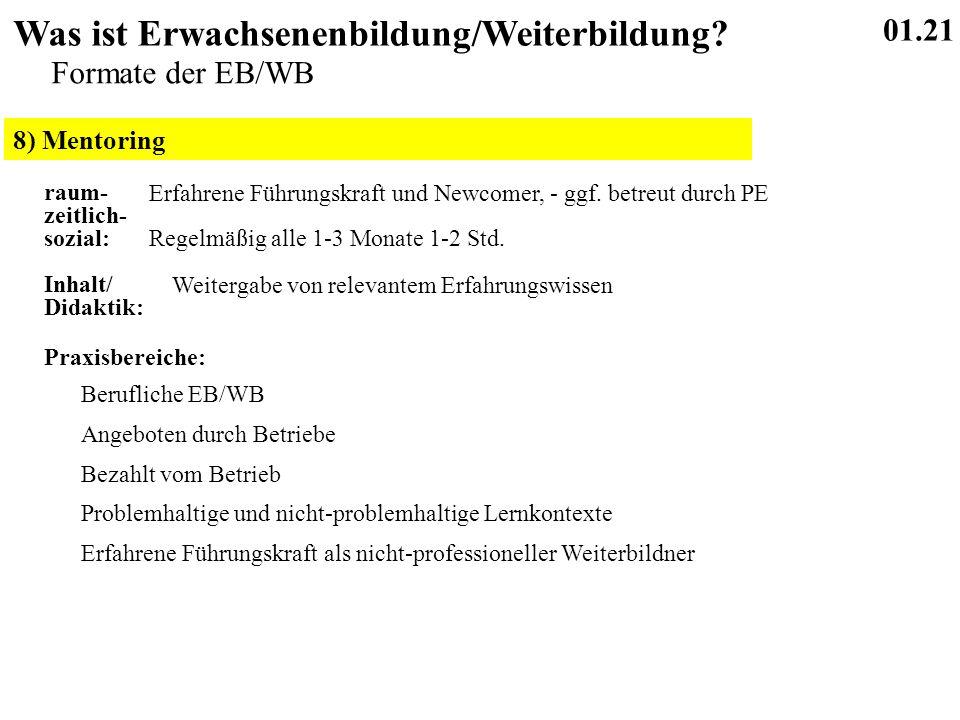 8) Mentoring 01.21 Was ist Erwachsenenbildung/Weiterbildung.