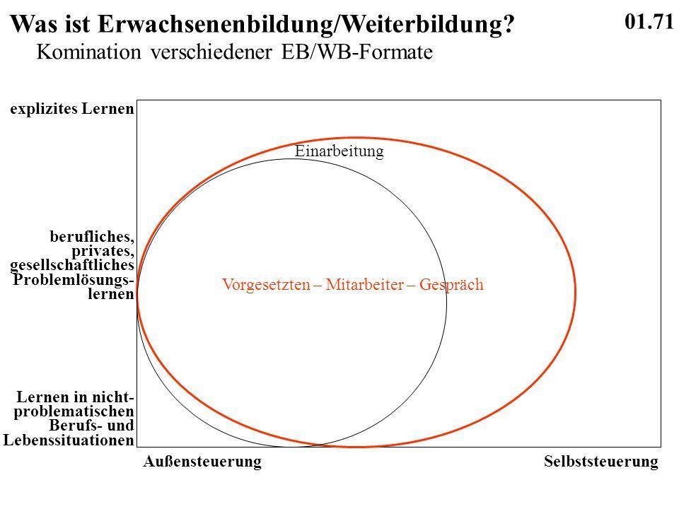 01.71 Was ist Erwachsenenbildung/Weiterbildung.