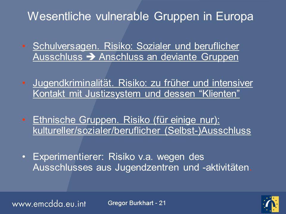 Gregor Burkhart - 21 Schulversagen. Risiko: Sozialer und beruflicher Ausschluss  Anschluss an deviante GruppenSchulversagen. Risiko: Sozialer und ber