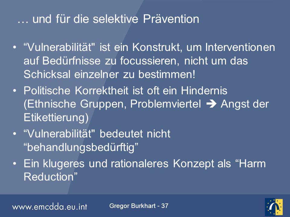 """Gregor Burkhart - 37 … und für die selektive Prävention """"Vulnerabilität"""