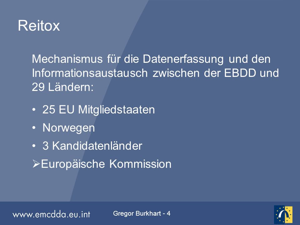 Gregor Burkhart - 15 Hauptkomponente in % der Schüler Percentage of pupils receiving 1st prevention component by country 0% 10% 20% 30% 40% 50% 60% 70% 80% 90% 100% BeFlBeFrCZDEFIGRHUIEITLuxNLNOPTSP Social skills (assertiveness, resisting peer pressure) Personal skills (decision making, coping, goal setting) Other Knowledge (about drugs and consequences) Attitudes (correct misconceptions about peer drug use) Alternatives to drug use Affective education (self-esteem, self image)