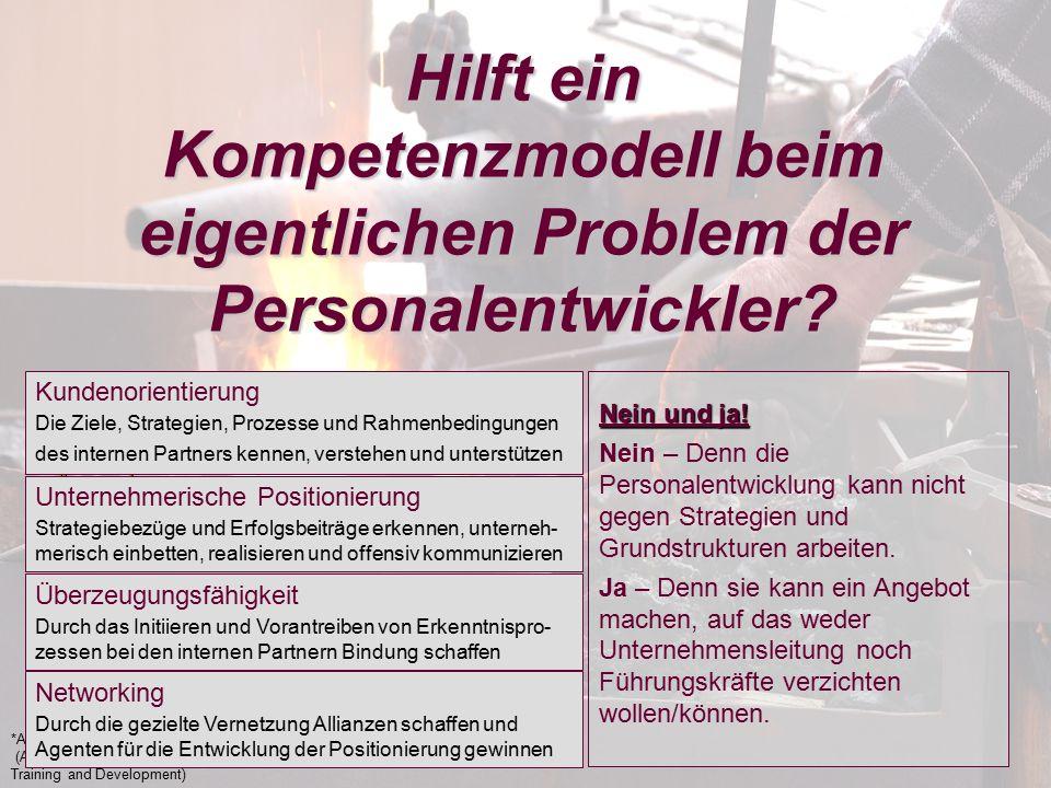 © vbc 2005 Hilft ein Kompetenzmodell beim eigentlichen Problem der Personalentwickler.