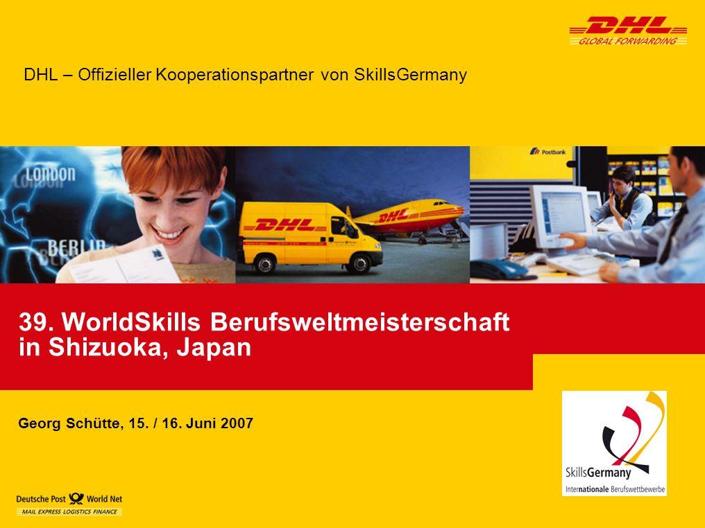 39. WorldSkills Berufsweltmeisterschaft in Shizuoka, Japan Georg Schütte, 15.