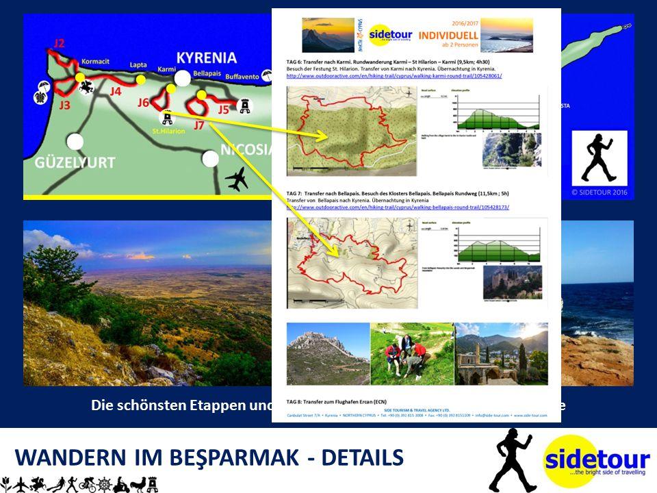 WANDERN IM BEŞPARMAK - DETAILS Die schönsten Etappen und Rundwanderwege als Wochenprogramme