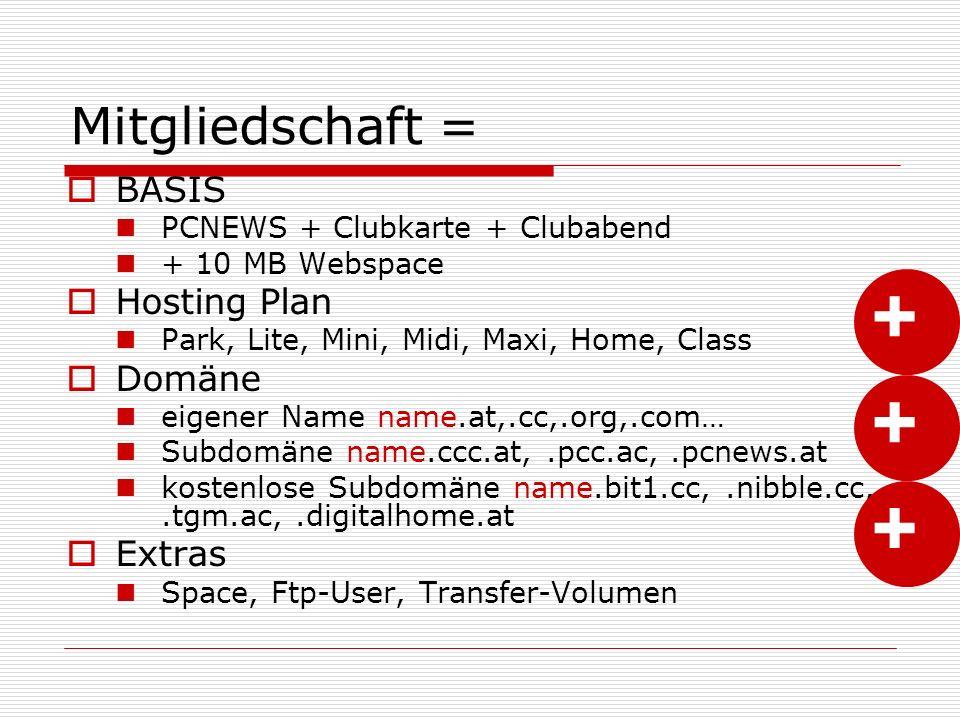 Secure Folder  Zugang zu Teilen des Content nur für berechtige Besucher  Man kann dazu User definieren und diesen Usern einzeln oder in Gruppen Zugriff auf bestimmte Bereiche gewähren.