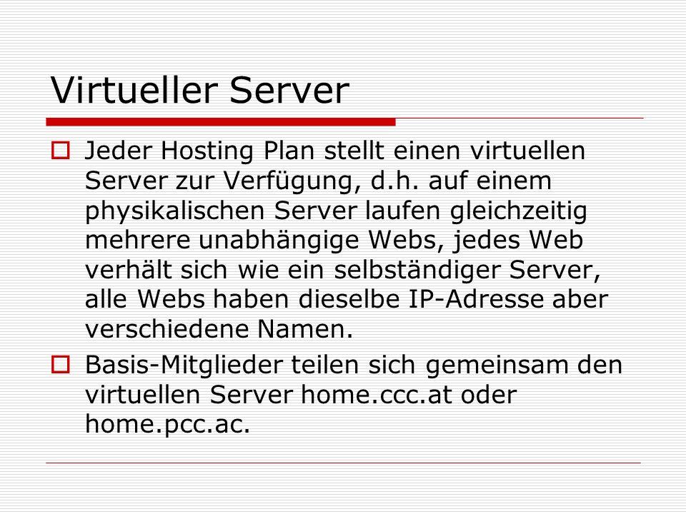 Datenbank - Access  Basis-Webspace: Access- Datenbanken nur lesend  Helm-Webspace: Datenbank im Verzeichnis /db gespeichert, auf dem auch Schreibrechte definiert sind.