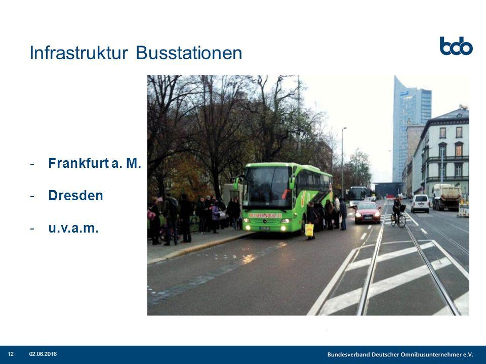 Infrastruktur Busstationen 02.06.201612 -Frankfurt a. M. -Dresden -u.v.a.m.