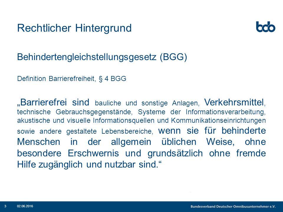 """Rechtlicher Hintergrund Novelliertes PBefG (in Kraft seit 1.1.2013): ÖPNV: """"vollständige Barrierefreiheit ab 1.1.2022 """"von konkret zu benennenden und zu begründenden Ausnahmen abgesehen - § 8 Abs."""