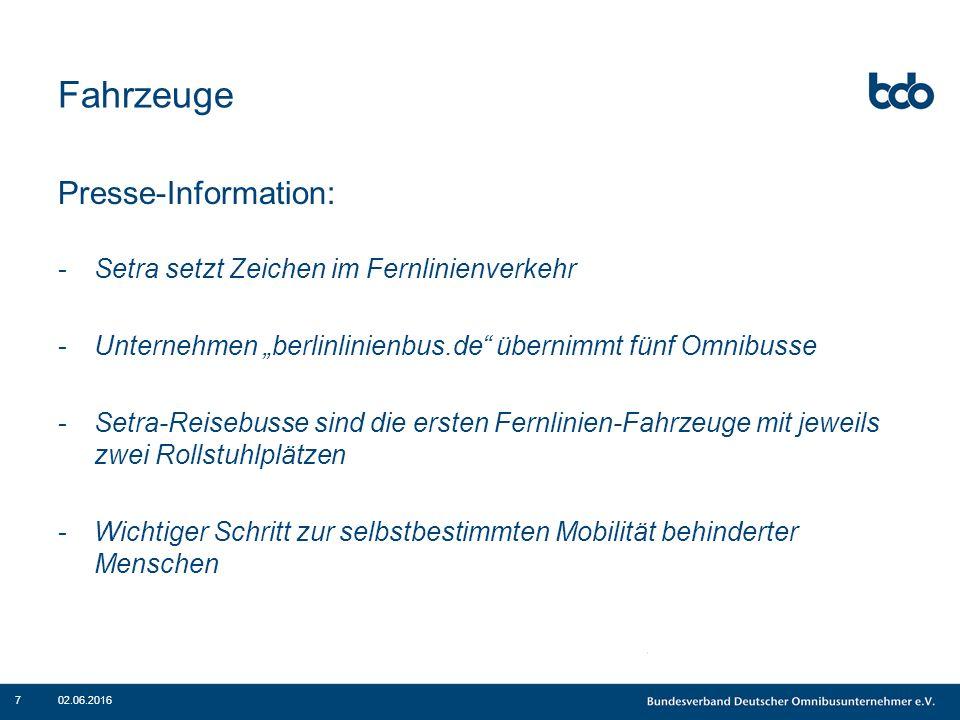 """Fahrzeuge Presse-Information: -Setra setzt Zeichen im Fernlinienverkehr -Unternehmen """"berlinlinienbus.de"""" übernimmt fünf Omnibusse -Setra-Reisebusse s"""
