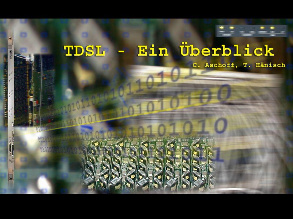 ADSL Seite 2 Christian Aschoff (caschoff@mac.com) Till Hänisch (till.haenisch@gmx.de) Stand: 4/01 Die Vervielfältigung oder Weiterverwendung ist ohne Genehmigung des Autors untersagt.