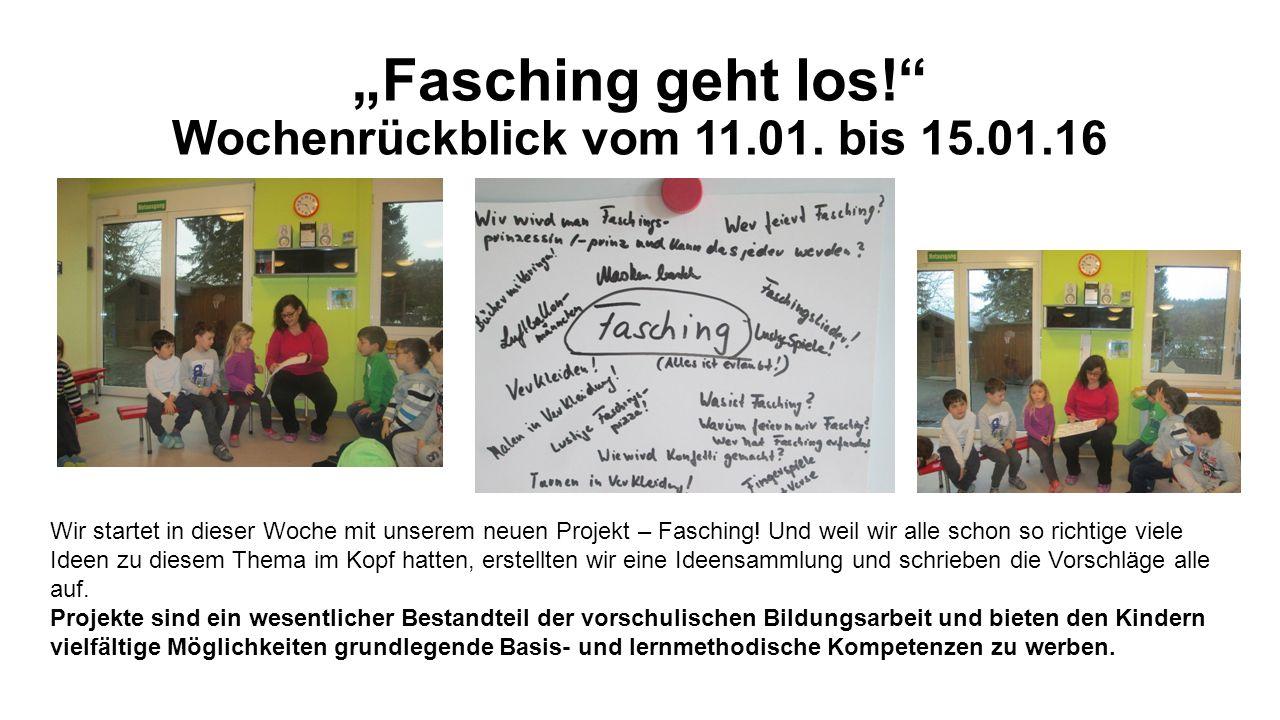"""""""Fasching geht los! Wochenrückblick vom 11.01."""
