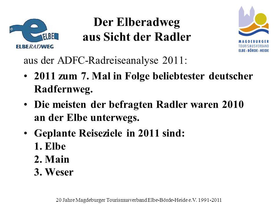 Der Elberadweg aus Sicht der Radler aus der ADFC-Radreiseanalyse 2011: 2011 zum 7.