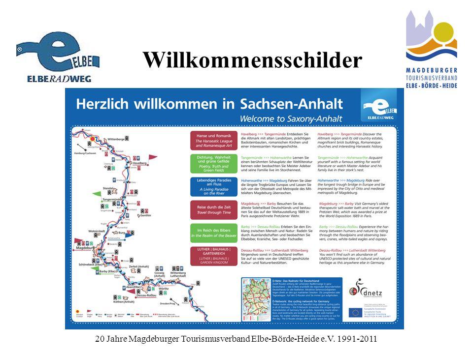 Willkommensschilder 20 Jahre Magdeburger Tourismusverband Elbe-Börde-Heide e.V. 1991-2011