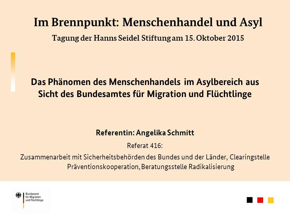 Im Brennpunkt: Menschenhandel und Asyl Tagung der Hanns Seidel Stiftung am 15.