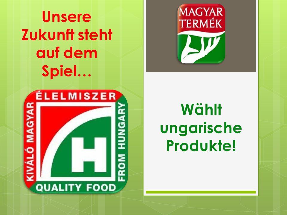 Unsere Zukunft steht auf dem Spiel… Wählt ungarische Produkte!