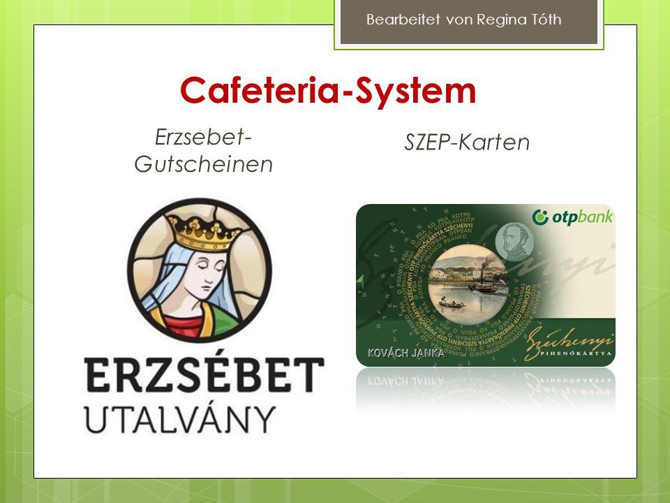 Cafeteria-System Erzsebet- Gutscheinen SZEP-Karten Bearbeitet von Regina Tóth