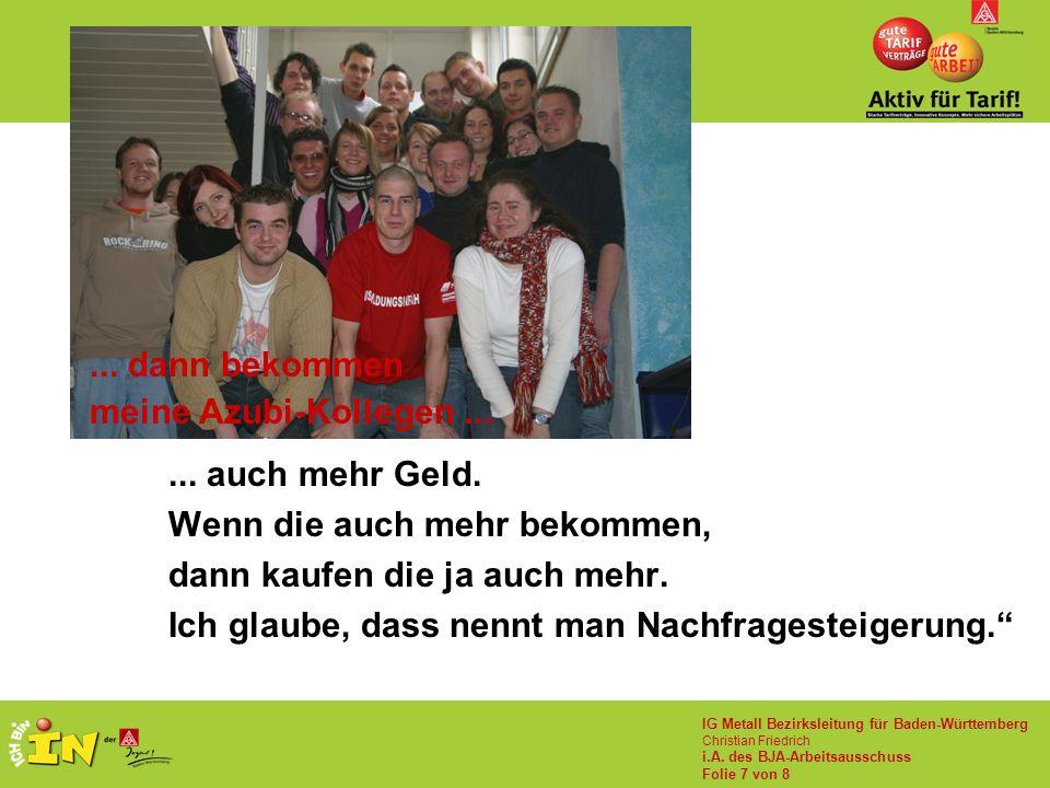 IG Metall Bezirksleitung für Baden-Württemberg Christian Friedrich i.A.