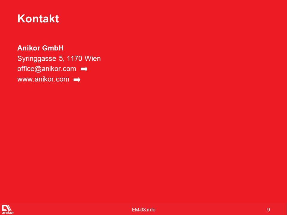 9 Kontakt Anikor GmbH Syringgasse 5, 1170 Wien office@anikor.com www.anikor.com
