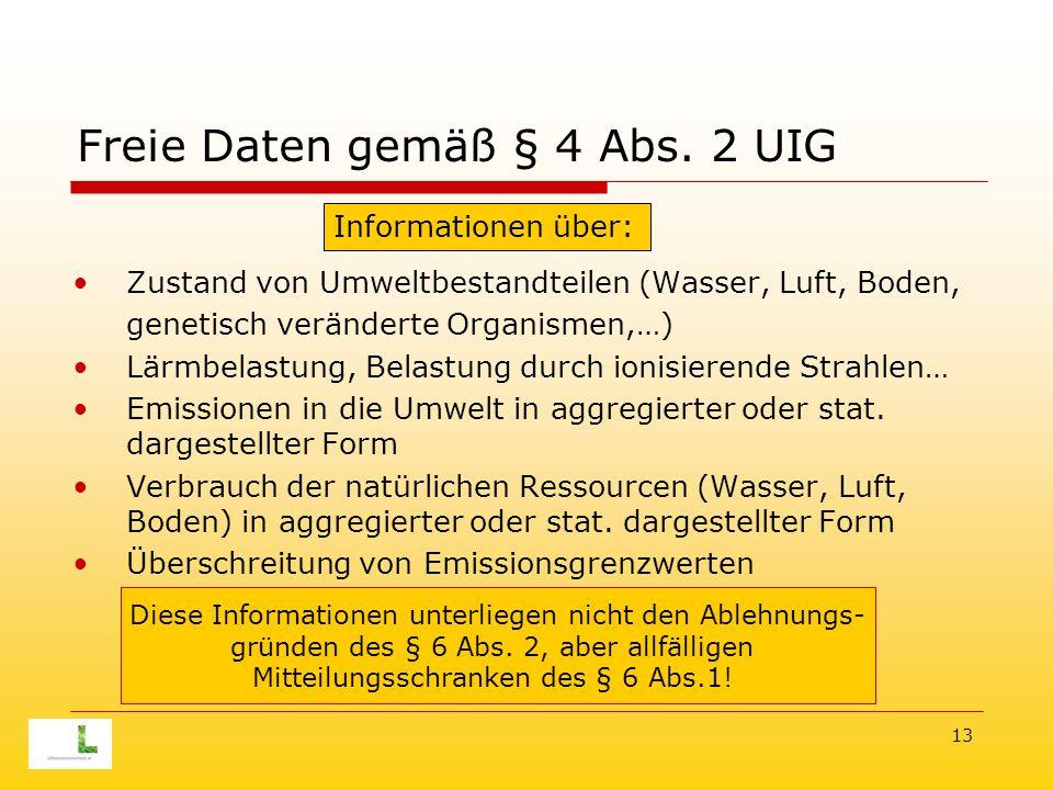 13 Freie Daten gemäß § 4 Abs.