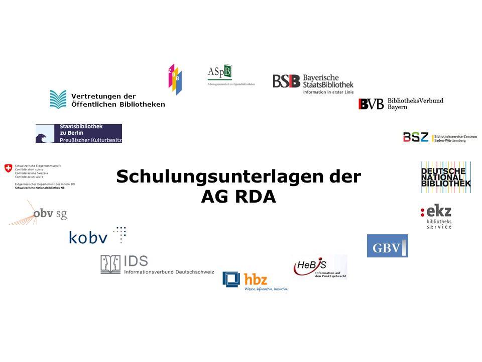 22 AG RDA Schulungsunterlagen – Modul GND: Religiöse Körperschaften   Stand: 30.04.2014 Provinzen, Diözesen usw.