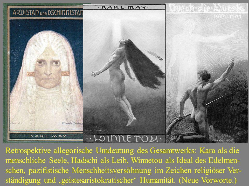 """1907-1909 Ardistan und Dschinnistan, zweiteiliger Roman: Hadschi Halef Omar (als leibgesinnter) und Kara Ben Nemsi (als geistgesinnter Mensch) in """"Sit"""