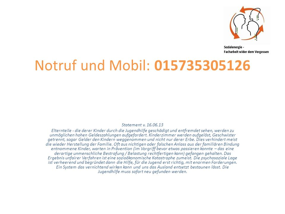 Postanschrift: Nikolausstraße 16, 36037 Fulda Statement v.