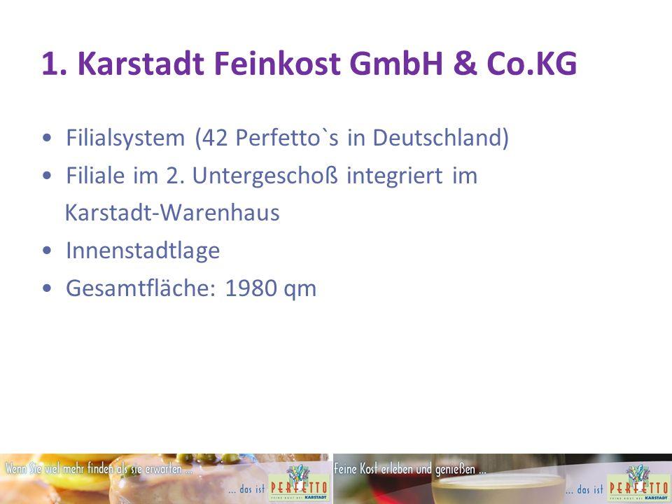 1.Karstadt Feinkost GmbH & Co.KG Filialsystem (42 Perfetto`s in Deutschland) Filiale im 2.