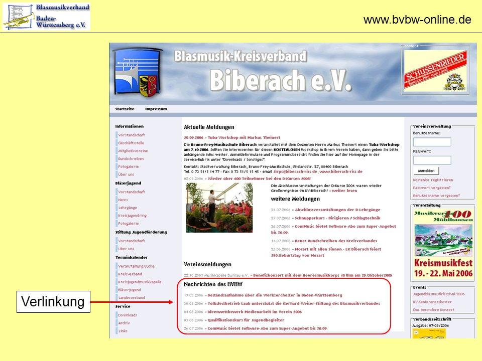 www.bvbw-online.de Verlinkung