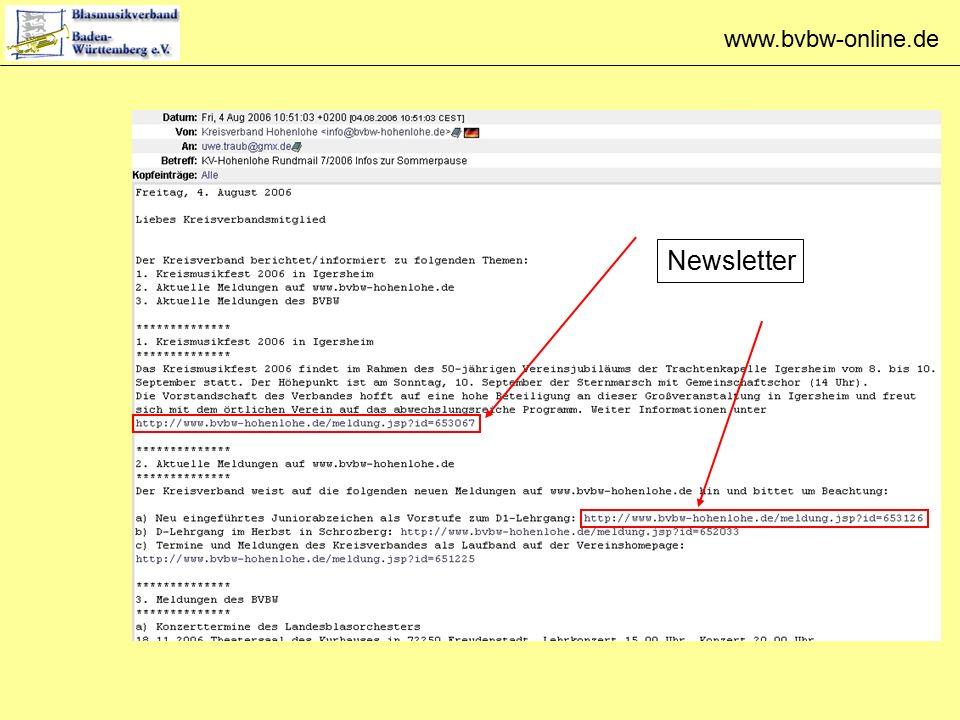 www.bvbw-online.de Newsletter