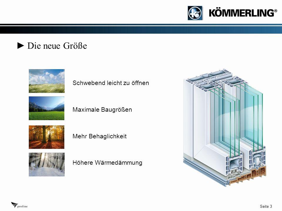 Seite 3 ► Die neue Größe Schwebend leicht zu öffnen Maximale Baugrößen Mehr Behaglichkeit Höhere Wärmedämmung