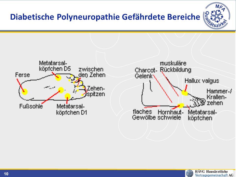 10 Diabetische Polyneuropathie Gefährdete Bereiche
