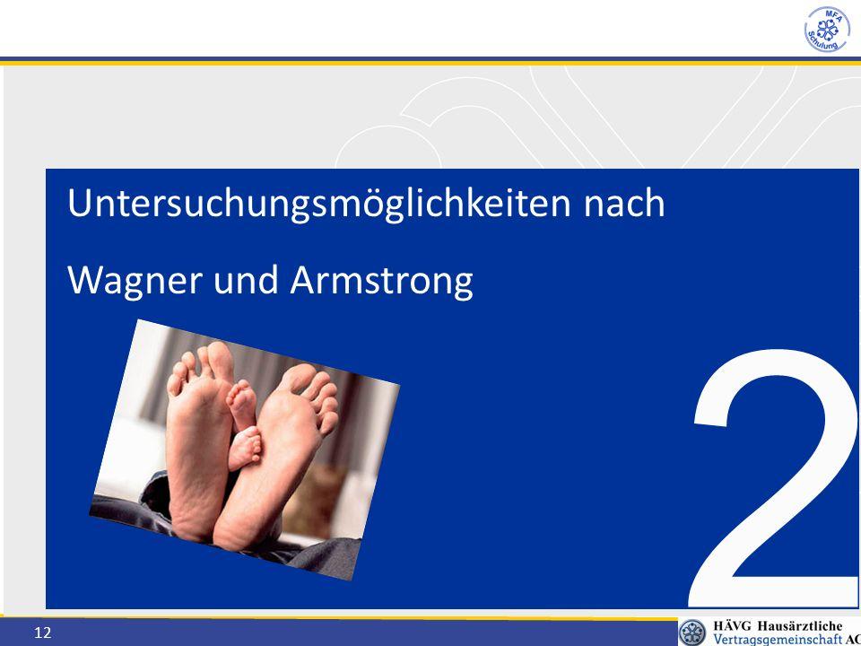 12 Untersuchungsmöglichkeiten nach Wagner und Armstrong 2
