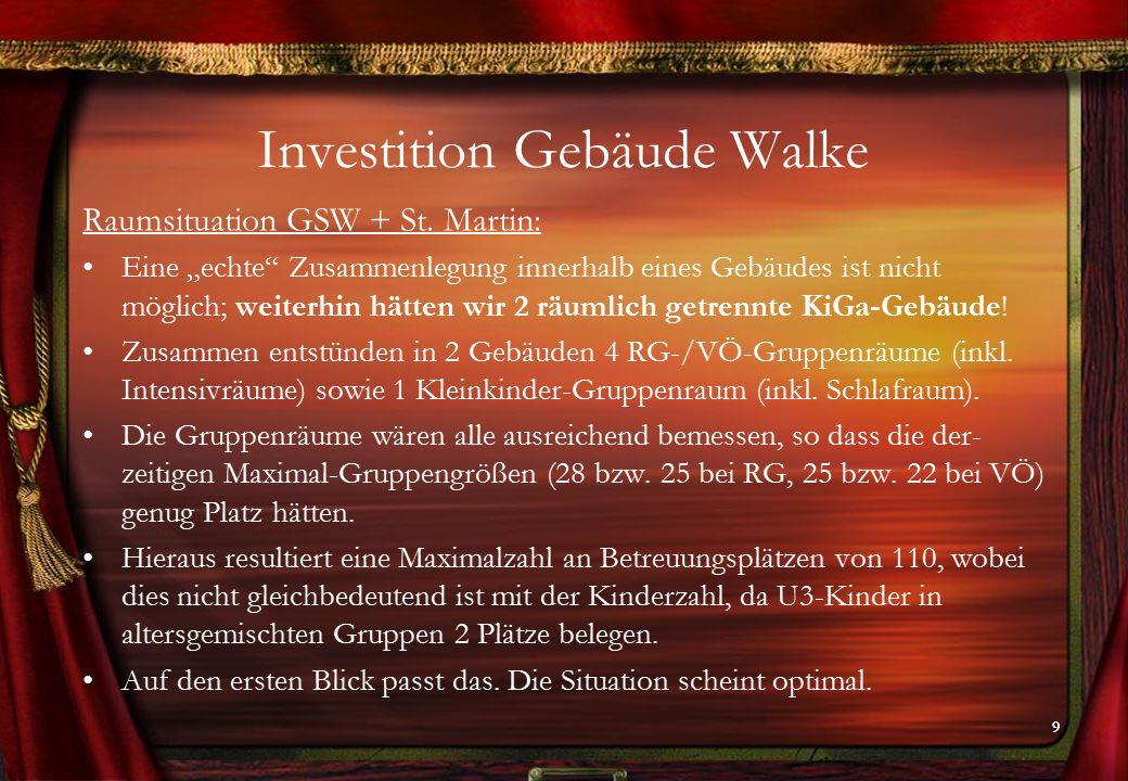 99 Investition Gebäude Walke Raumsituation GSW + St.