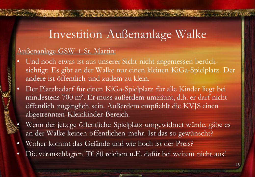 15 Investition Außenanlage Walke Außenanlage GSW + St.